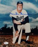 Duke Snider Autographed Dodgers 8x10 Color Kneeling Photo- JSA Auth *Blue