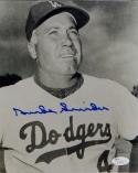 Duke Snider Autographed Dodgers 8x10 B&W Close Up Photo- JSA Auth *Blue