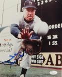 Duke Snider Autographed Dodgers 8x10 Close Up Catching Photo- JSA Auth *Blue