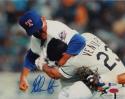 Nolan Ryan Autographed Rangers 8x10 Fighting Ventura Photo- Beckett Auth *Blue