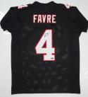 Brett Favre Autographed Black Pro Style Jersey - JSA W Auth *4