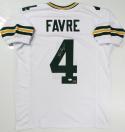 Brett Favre Autographed White Pro Style Jersey - JSA W Auth *4