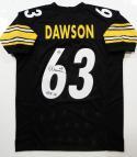 Dermontti Dawson Signed Black Pro Style Jersey w/ HOF-Jersey Source Auth *6B