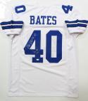 Bill Bates Autographed White Pro Style Jersey w/ 3x SB Champ- JSA W Auth *4