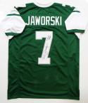 Ron Jaworski Autographed Green Pro Style Jersey w/ Polish Rifle- JSA W Auth *7