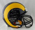 Eric Dickerson Signed Rams F/S 81-99 TB ProLine Helmet w/ Stats - Beckett Auth