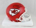 Tony Gonzalez Autographed Kansas City Chiefs Mini Helmet- JSA W Auth *Black