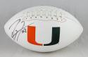 Ray Lewis Autographed Miami Hurricanes Logo Football- JSA Authenticated