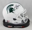LeVeon Bell Signed Michigan State Spartans White Schutt Mini Helmet- JSA W Auth *Black