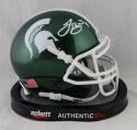 LeVeon Bell Signed Michigan State Spartans Green Schutt Mini Helmet- JSA W Auth *White