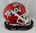 DJ Moore Autographed Maryland Terps Schutt Mini Helmet- JSA W Auth *Silver