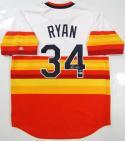 Nolan Ryan Autographed Houston Astros Rainbow Cooperstown Jersey- Beckett Auth