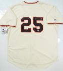 Barry Bonds Autographed San Francisco Giants Cream Majestic Jersey- Beckett Auth *5