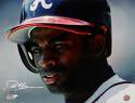 Deion Sanders Autographed Atlanta Braves 16x20 PF Photo Close Up- JSA W Auth *White