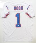 Warren Moon Autographed White Pro Style Jersey w/ HOF- JSA W Authenticated