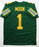 Warren Moon Autographed Green Pro Style Jersey w/ HOF- JSA W Authenticated