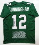 Randall Cunningham Autographed Green Pro Style STAT Jersey- JSA-W Auth *1