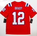 Tom Brady Autographed Nike Authentic Red Jersey- Tristar Authenticated