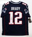 Tom Brady Autographed Nike Authentic Blue Jersey- Tristar Authenticated