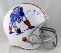 Tom Brady Signed New England Patriots F/S Authentic 65-81 TB Helmet- TriStar Auth *Blue