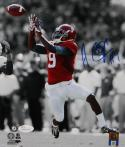 Amari Cooper Autographed Alabama 8x10 B&W Color Catch PF Photo- JSA W Auth *Blue