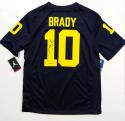 Tom Brady Autographed Blue Michigan Wolverines Jordan Jersey- Tristar Authenticated *1