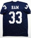 Jack Ham Autographed Blue College Style Jersey w/ CHOF- JSA W Authenticated *L3