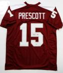 Dak Prescott Autographed Maroon College Style Jersey- Beckett Authenticated *5
