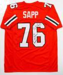 Warren Sapp Autographed Orange College Style Jersey w/ Insc- JSA W Authenticated *9