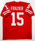 Tommie Frazier Autographed Red College Style Jersey W/ Nat'l Champs- JSA Authenticated