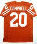 Earl Campbell Autographed Orange College Style Jersey W/ HT- JSA Authentication *2