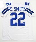 Emmitt Smith Autographed White Pro Style Jersey - PSA/DNA Authentication *R2