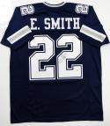 Emmitt Smith Autographed Blue Pro Style Jersey - PSA/DNA Authentication *R2 Dbl Stitch
