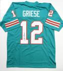 Bob Griese Autographed Teal Pro Style Jersey - JSA Witness Auth *1