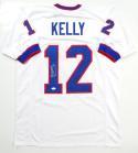 Jim Kelly Autographed White Pro Style Jersey- JSA Witness Authenticated *1