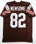 Ozzie Newsome Autographed Brown Pro Style Jersey w/ HOF-Beckett Auth  *L8