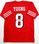 Steve Young Autographed Red Pro Style Jersey- JSA Authenticated *8