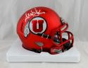 Alex Smith Autographed Utah Utes Riddell Speed Mini Helmet - Beckett W Auth *White