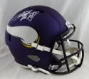 Adrian Peterson Autographed Minnesota Vikings F/S Speed Helmet- Beckett Auth *White
