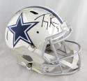 Tony Romo Autographed Dallas Cowboys F/S Chrome Helmet- Beckett Auth *Black