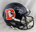 Courtland Sutton Autographed Denver Broncos F/S Color Rush Speed Helmet- JSA W Auth *White