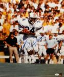 Bo Jackson Signed Auburn Tigers 16x20 Vertical Running *Blue Photo- JSA Auth