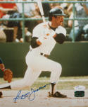 Reggie Jackson Autographed 8x10 Swinging Photo- JSA Authenticated