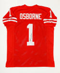 Tom Osborne Autographed Red College Style Jersey- JSA W Authenticated