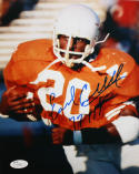 Earl Campbell Autographed 8x10 Up Close Texas Longhorns Photo- JSA Authenticated