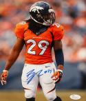 Bradley Roby Autographed Denver Broncos 8x10 Vertical Side View Photo-JSA W Auth