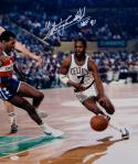 Nate Archibald HOF Autographed 16x20 Boston Celtics Dribbling Photo- JSA W Auth