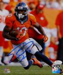 Emmanuel Sanders Autographed Broncos 8x10 Orange Jersey W/ Ball PF. Photo-JSA W Auth