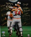 1983 Baltimore Orioles Autographed 16x20 WS Champs Cheering Photo- JSA W Auth