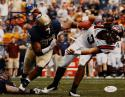 Aaron Donald Signed 8x10 Pittsburgh Panthers About to Tackle Photo- JSA W Auth